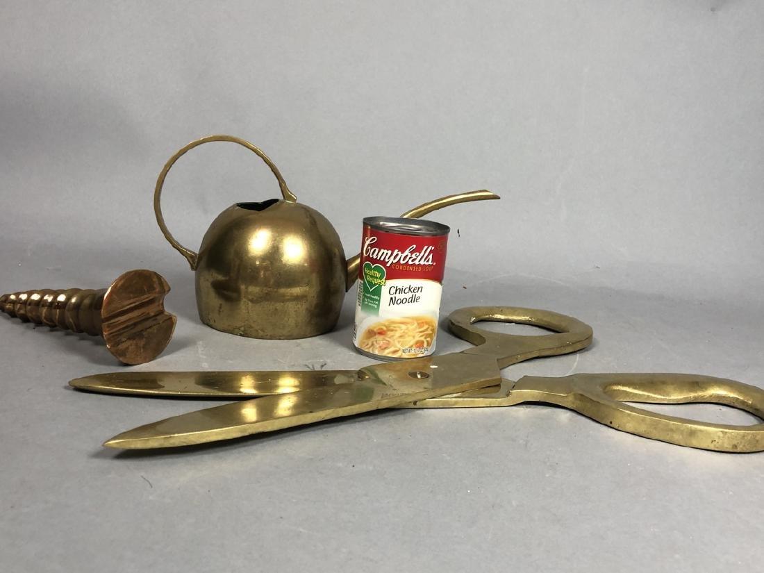 3pc Brass Modern Table Sculptures Lot. 1) oversiz - 4