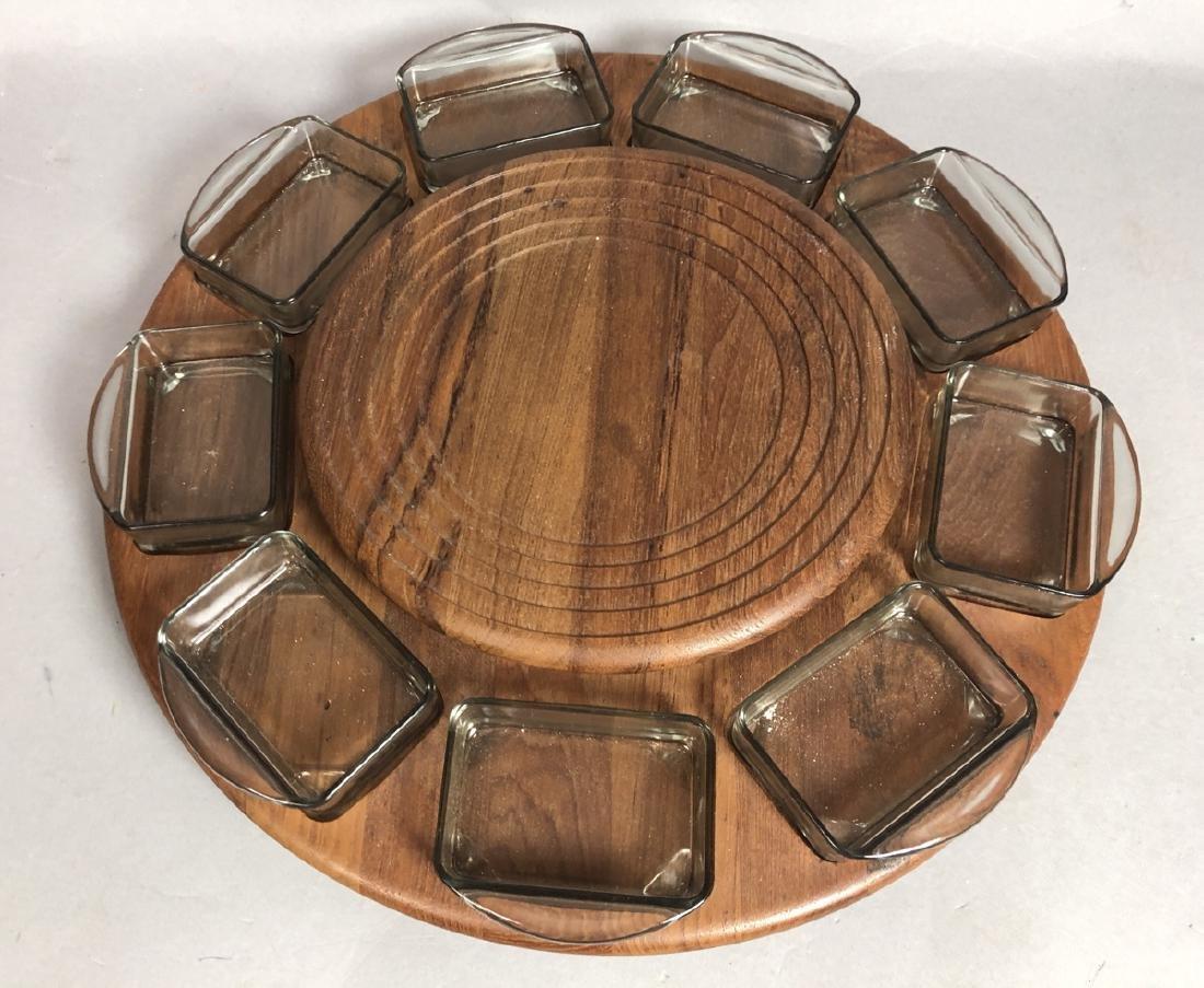 4pc DIGSMED Danish Modern Teak Tableware. 2 round - 3