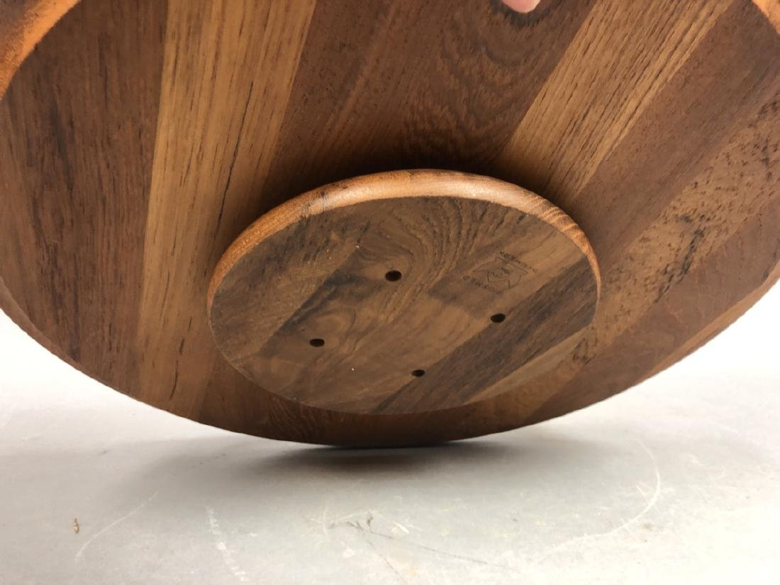 4pc DIGSMED Danish Modern Teak Tableware. 2 round - 5