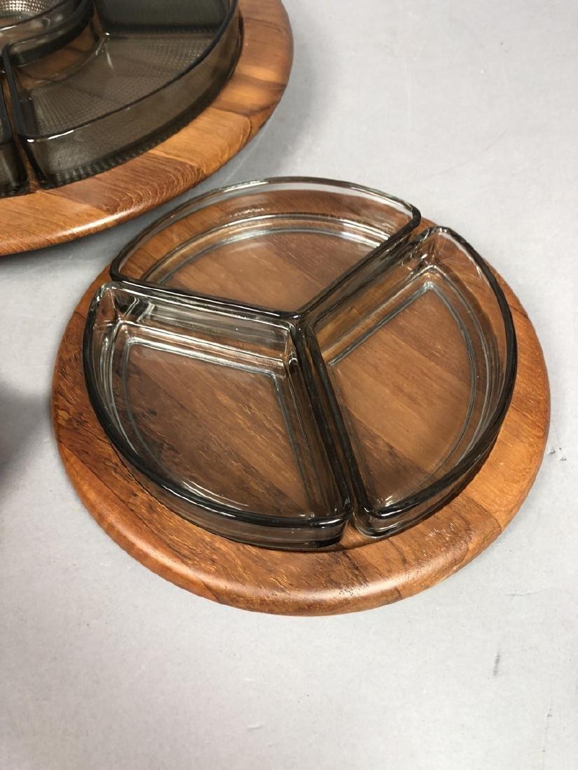 4pc DIGSMED Danish Modern Teak Tableware. 2 round - 6