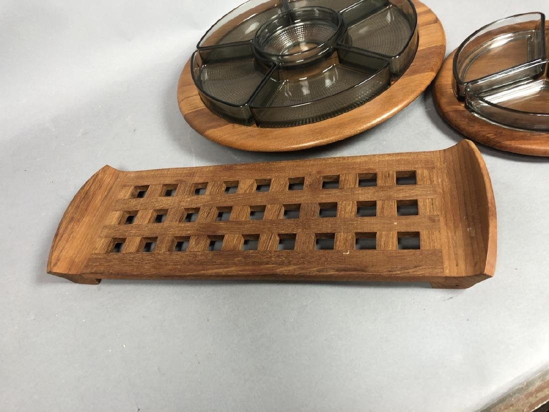 4pc DIGSMED Danish Modern Teak Tableware. 2 round - 8
