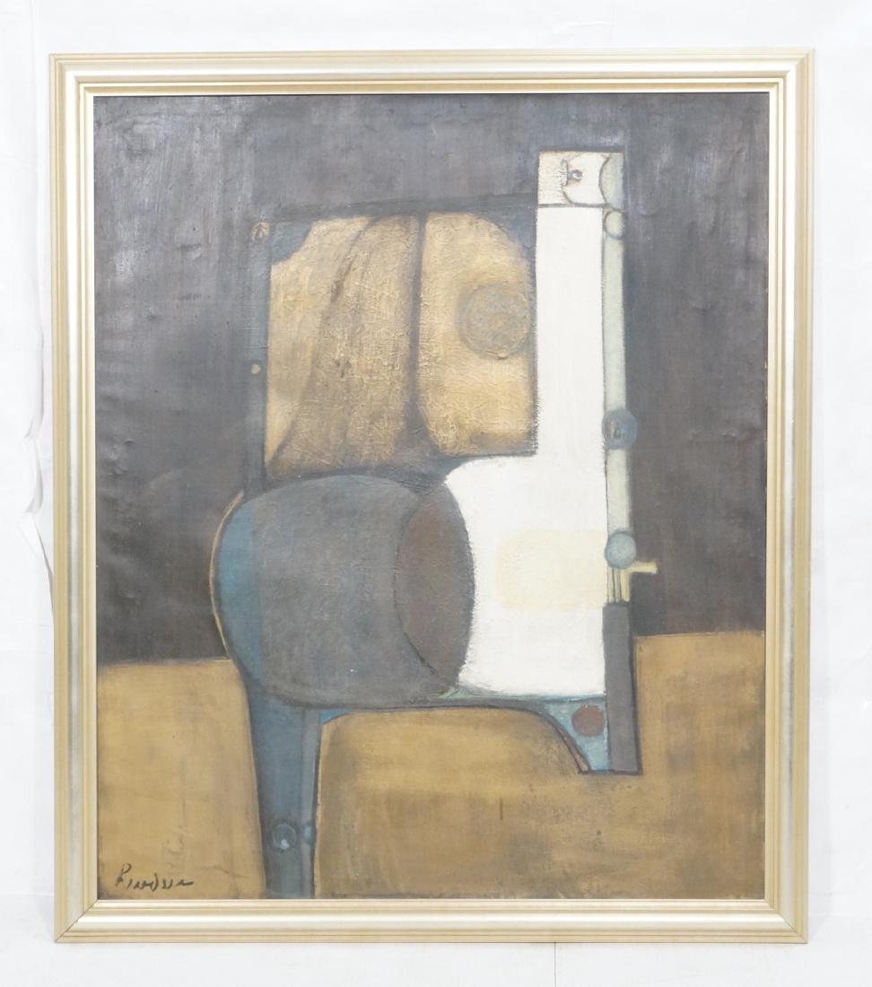 Large JIMMY LEUDERS Modernist Oil Painting. Figur