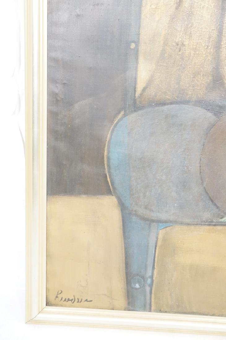 Large JIMMY LEUDERS Modernist Oil Painting. Figur - 3