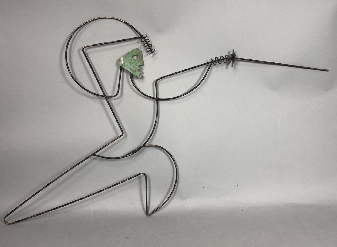 FREDERICK WEINBERG Figural Wire Wall Sculpture. F