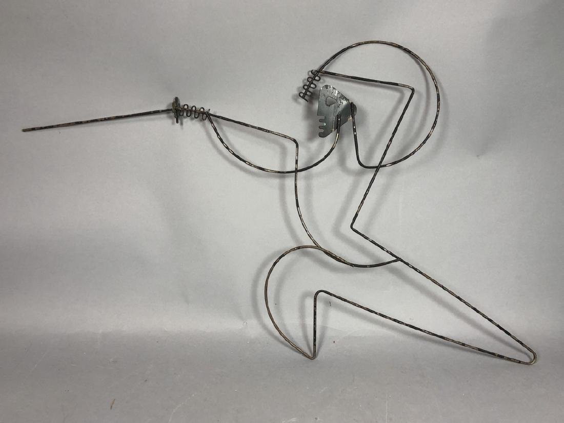 FREDERICK WEINBERG Figural Wire Wall Sculpture. F - 7