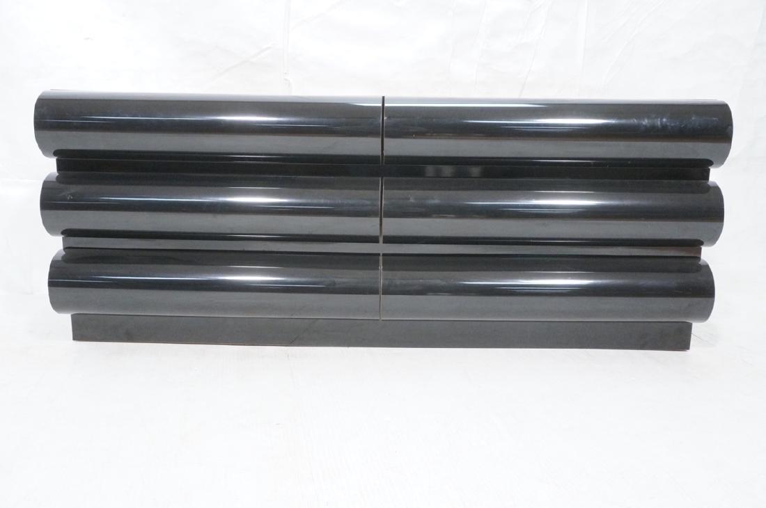 Modernist Black Laminate 6 Drawer Credenza Dresse - 2