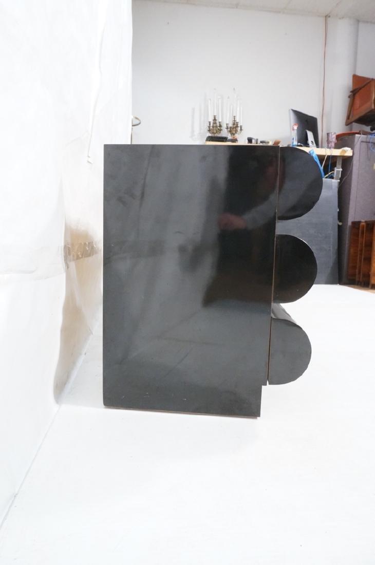Modernist Black Laminate 6 Drawer Credenza Dresse - 3