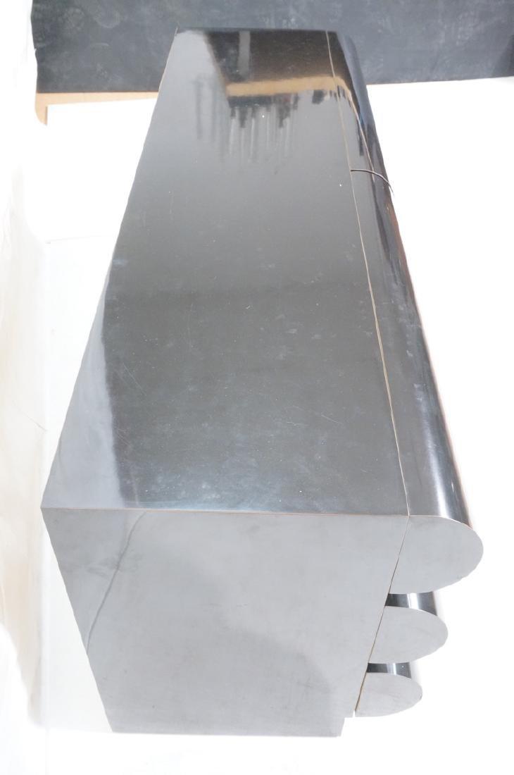 Modernist Black Laminate 6 Drawer Credenza Dresse - 4