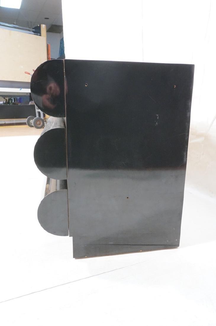 Modernist Black Laminate 6 Drawer Credenza Dresse - 5