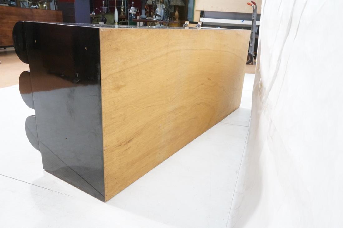Modernist Black Laminate 6 Drawer Credenza Dresse - 6
