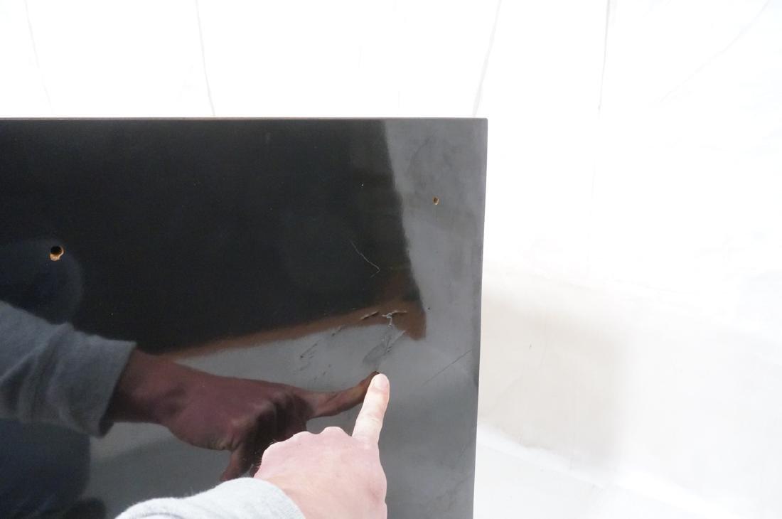 Modernist Black Laminate 6 Drawer Credenza Dresse - 8