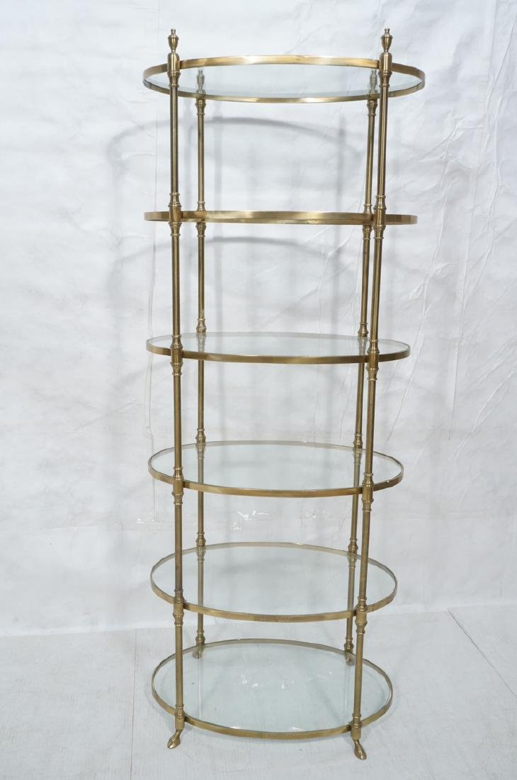 Regency Style Modern Brass Etagere Display Shelf. - 2