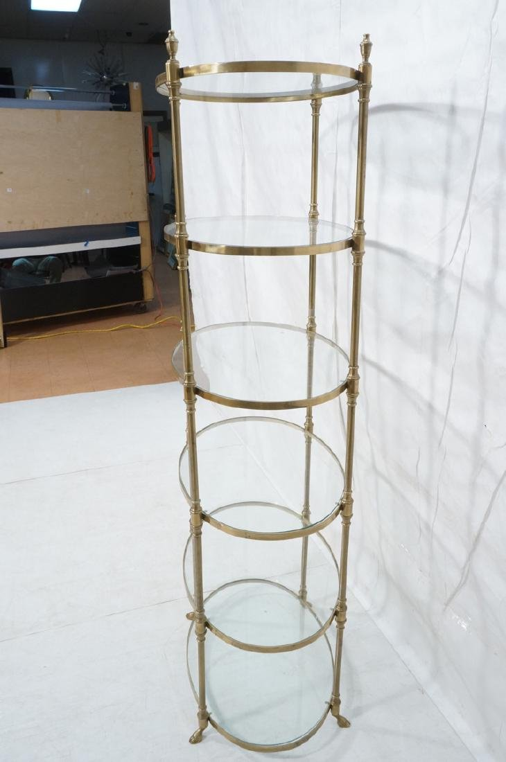 Regency Style Modern Brass Etagere Display Shelf. - 3