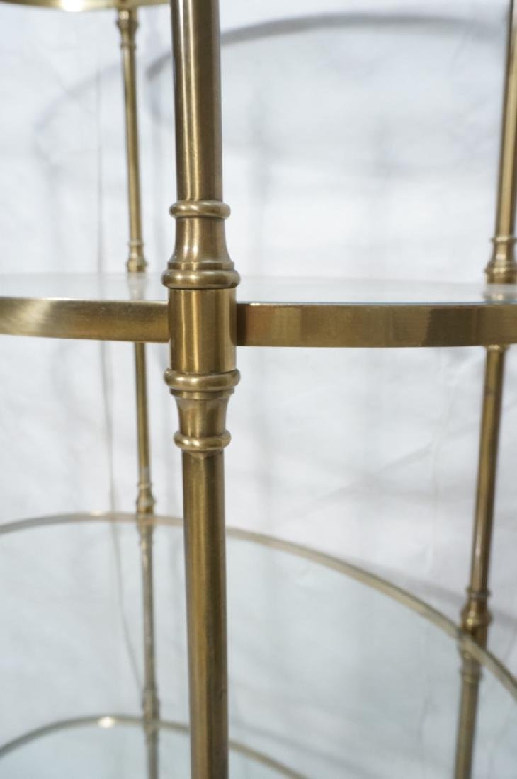 Regency Style Modern Brass Etagere Display Shelf. - 5