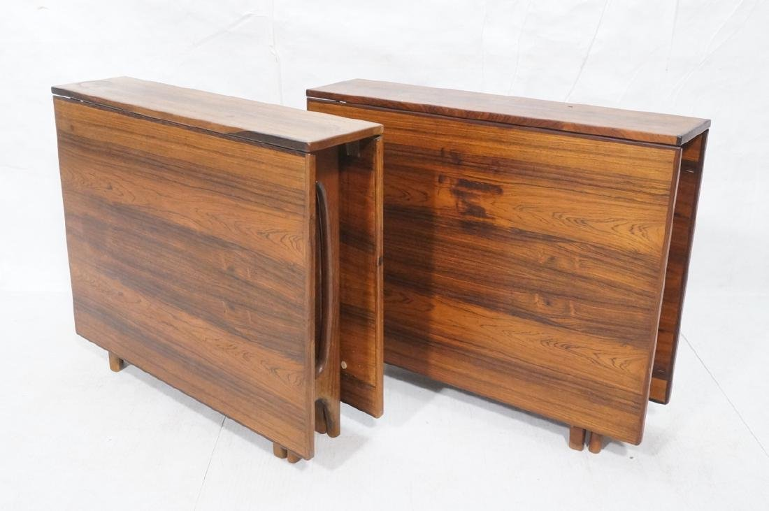 Pr Scandinavian Modern Rosewood Drop side Tables.