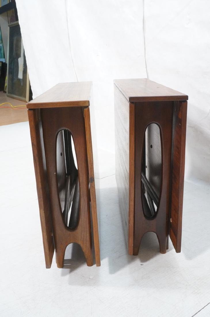 Pr Scandinavian Modern Rosewood Drop side Tables. - 3