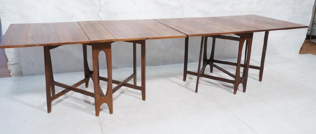 Pr Scandinavian Modern Rosewood Drop side Tables. - 4