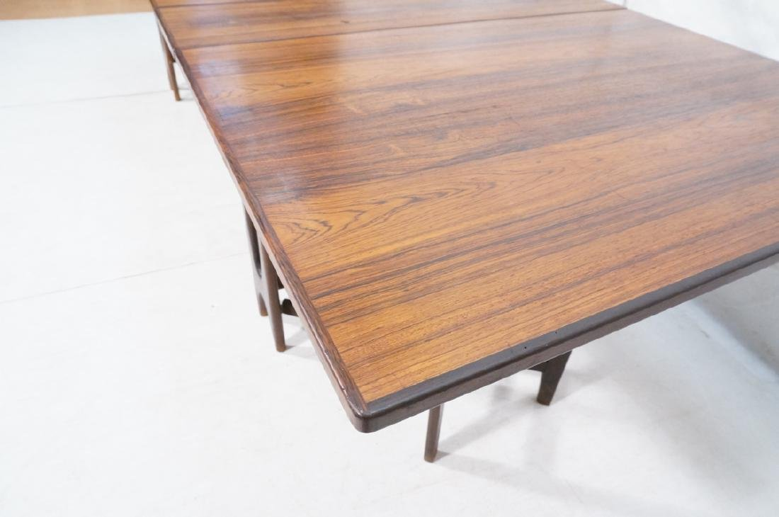 Pr Scandinavian Modern Rosewood Drop side Tables. - 7