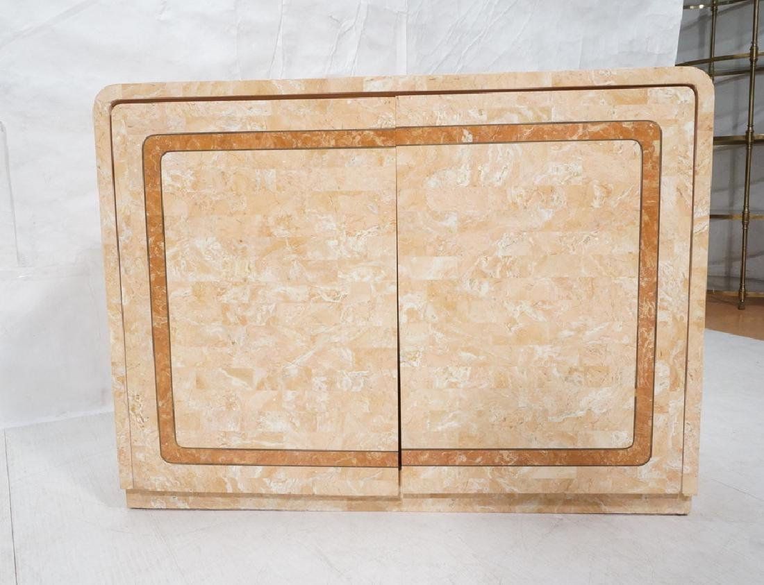 MAITLAND SMITH Style Pink Marble Tessellated Serv - 2