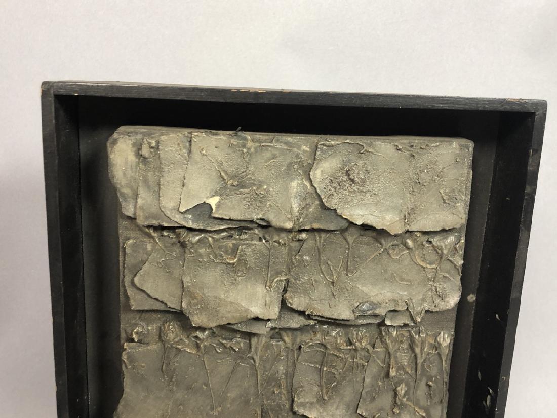 REIJI KIMURA Brutalist Collage in Shadow Box. Pap - 2