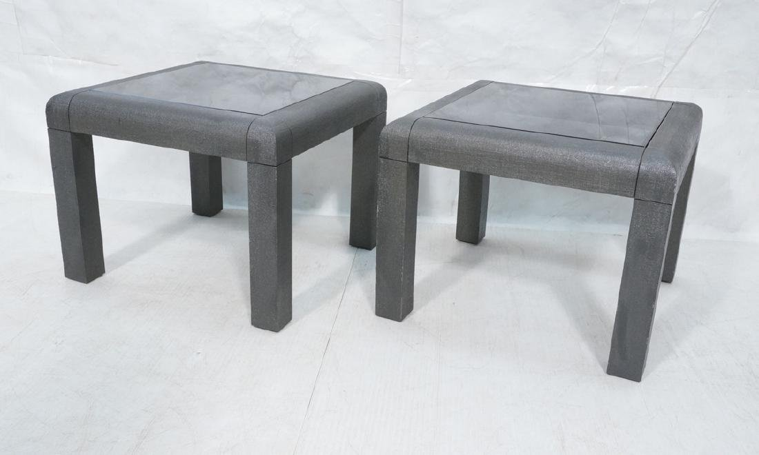 Pr KARL SPRINGER Attributed Square Side Tables. M