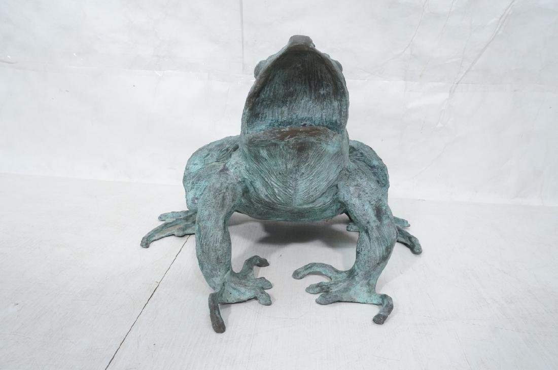 Oversized Bronze Figural Frog Fountain Sculpture. - 2