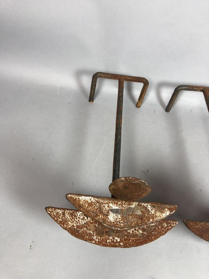 Pr Modernist Giacometti Style Andiron Fire Dogs. - 2
