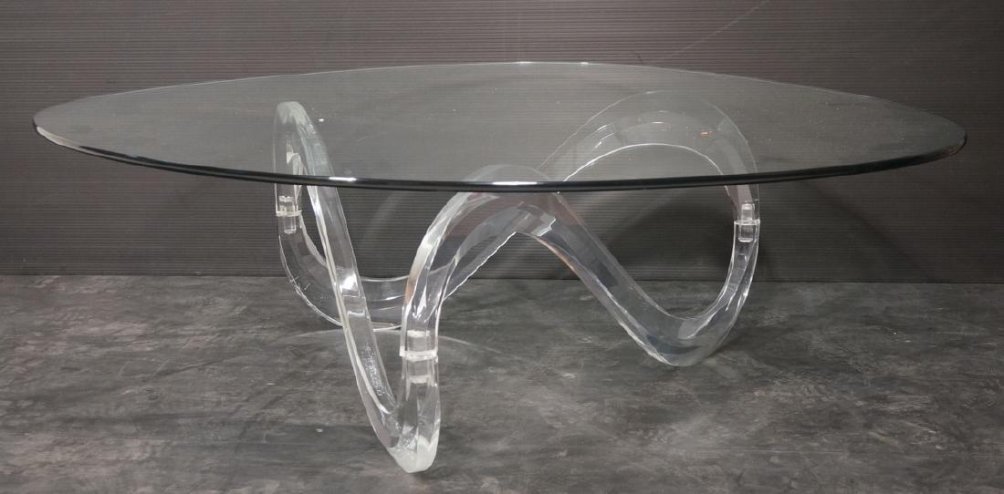 CHARLES HOLLIS JONES Style Lucite  Coffee Table.
