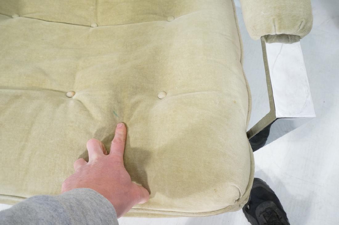 Pr MILO BAUGHMAN  Chrome Lounge Chairs. Wide flat - 9
