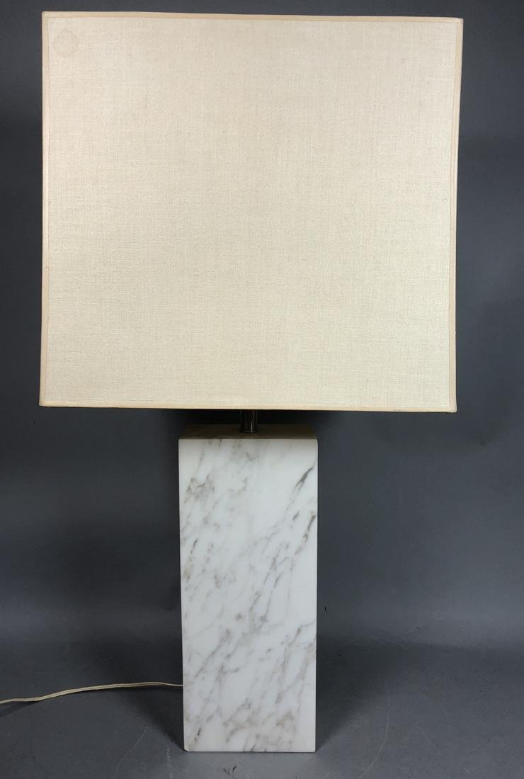 Tall HANSEN  Rectangular Column White Marble Tabl