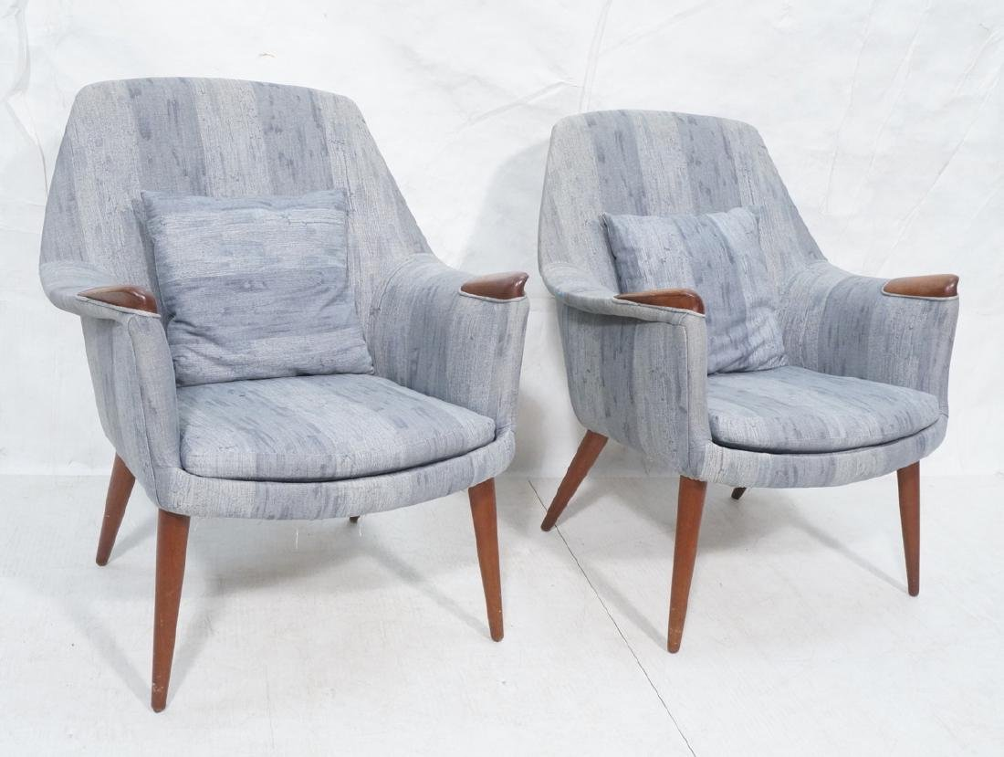 Pair Gerhard Berg  Lounge Chairs.  Hjelle Norway.