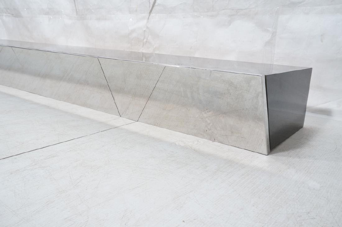 9' Long PACE Hanging Wall Shelf Table. Black lami - 2