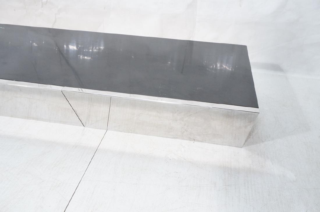 9' Long PACE Hanging Wall Shelf Table. Black lami - 3