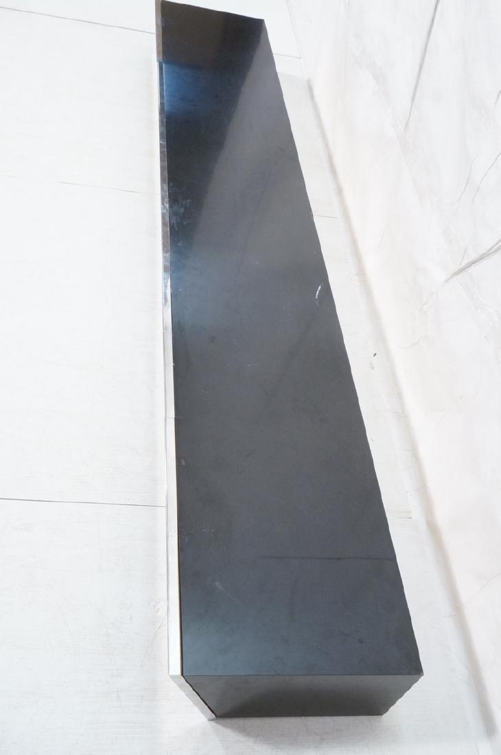9' Long PACE Hanging Wall Shelf Table. Black lami - 4