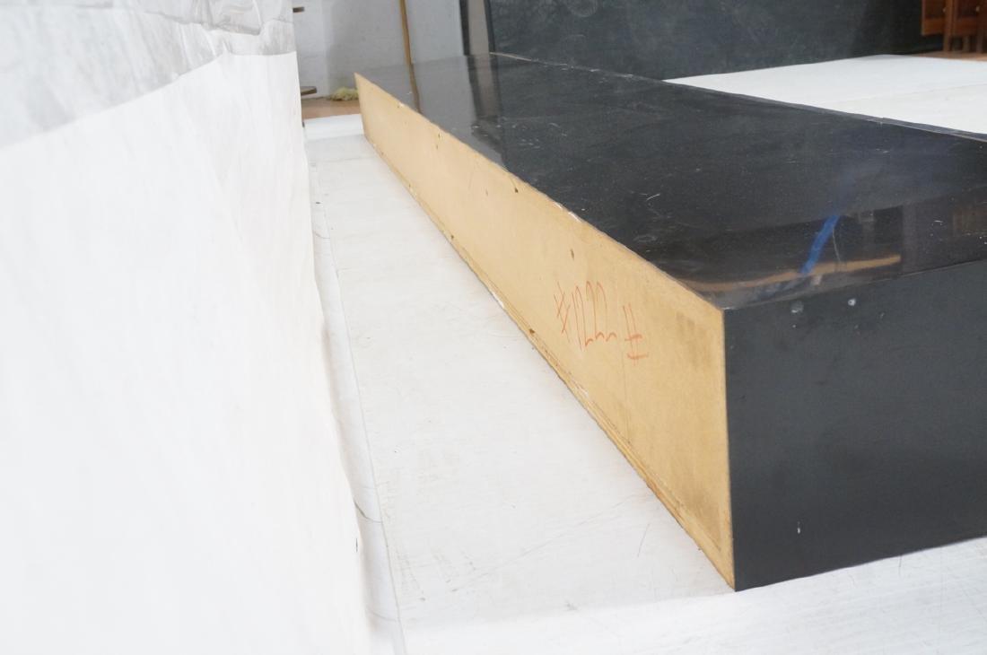 9' Long PACE Hanging Wall Shelf Table. Black lami - 6