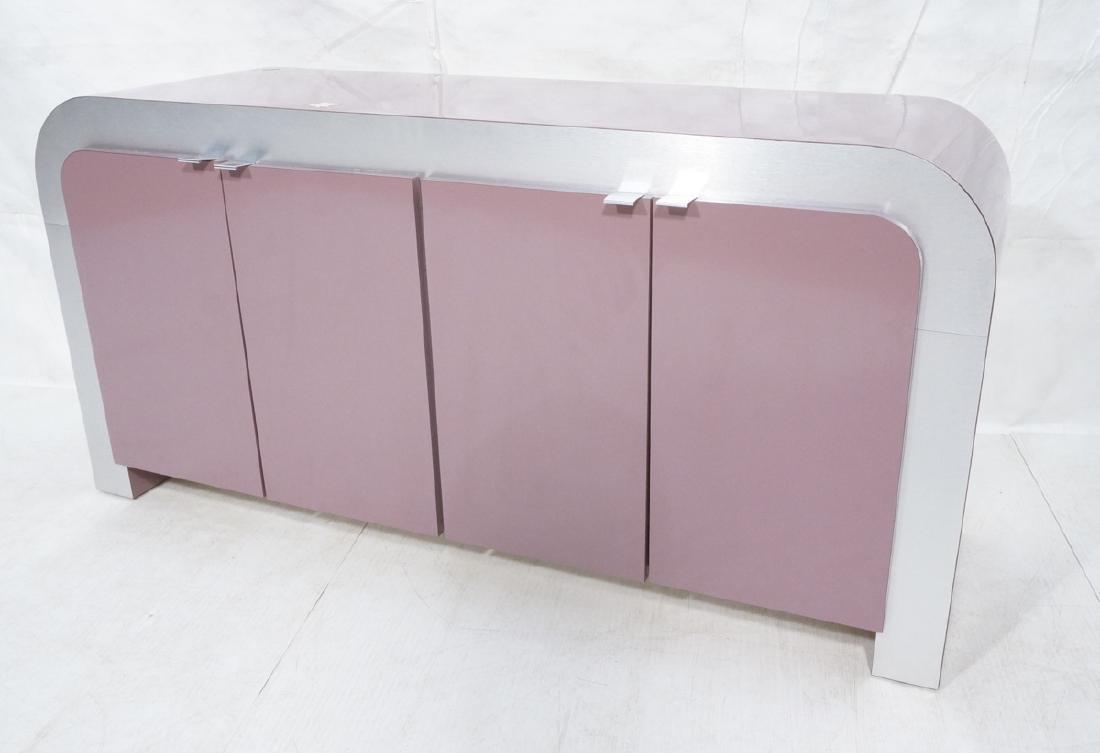 Lavender Laminate 70s Modern Credenza Sideboard.