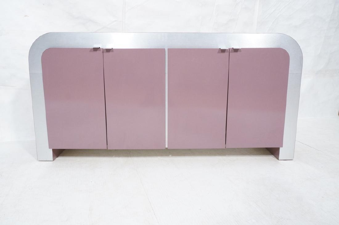 Lavender Laminate 70s Modern Credenza Sideboard. - 2
