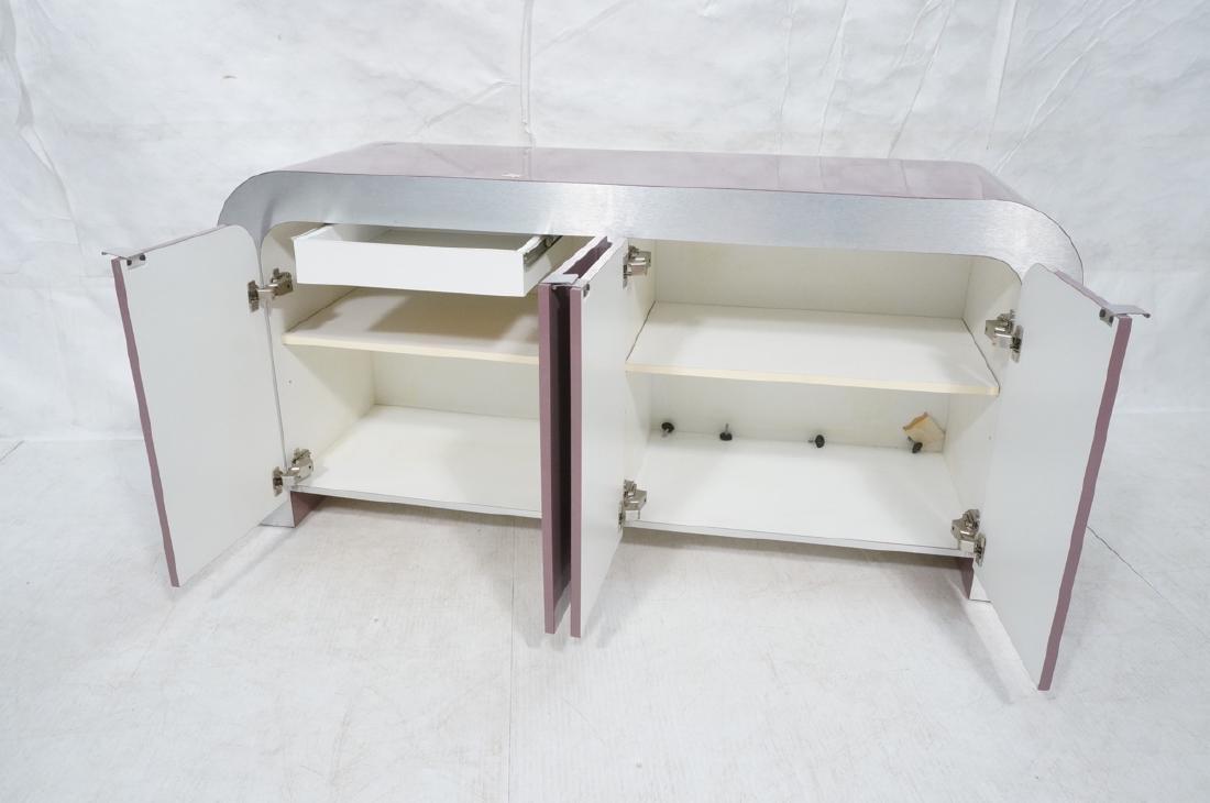 Lavender Laminate 70s Modern Credenza Sideboard. - 7