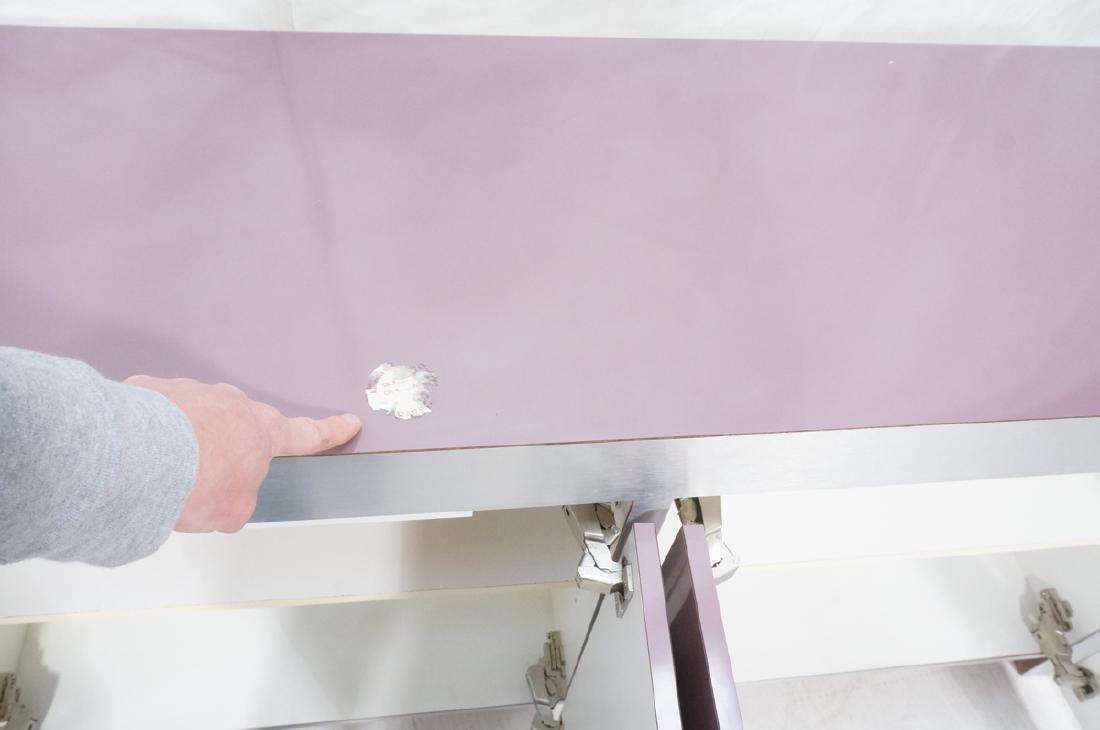 Lavender Laminate 70s Modern Credenza Sideboard. - 8