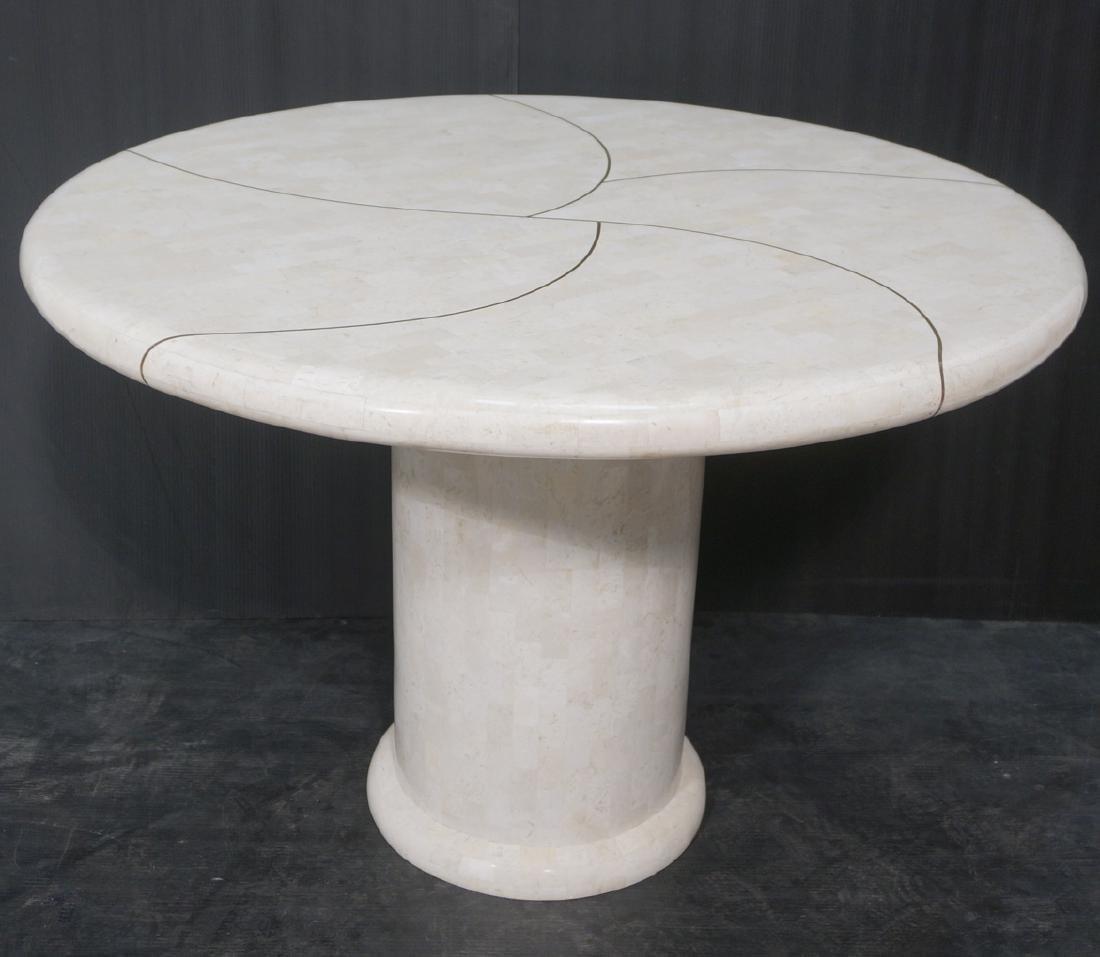 KARL SPRINGER Tessellated Marble Round Dining Tab