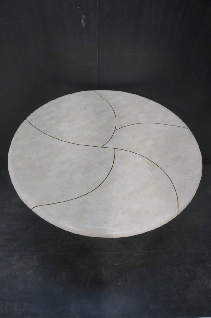 KARL SPRINGER Tessellated Marble Round Dining Tab - 4