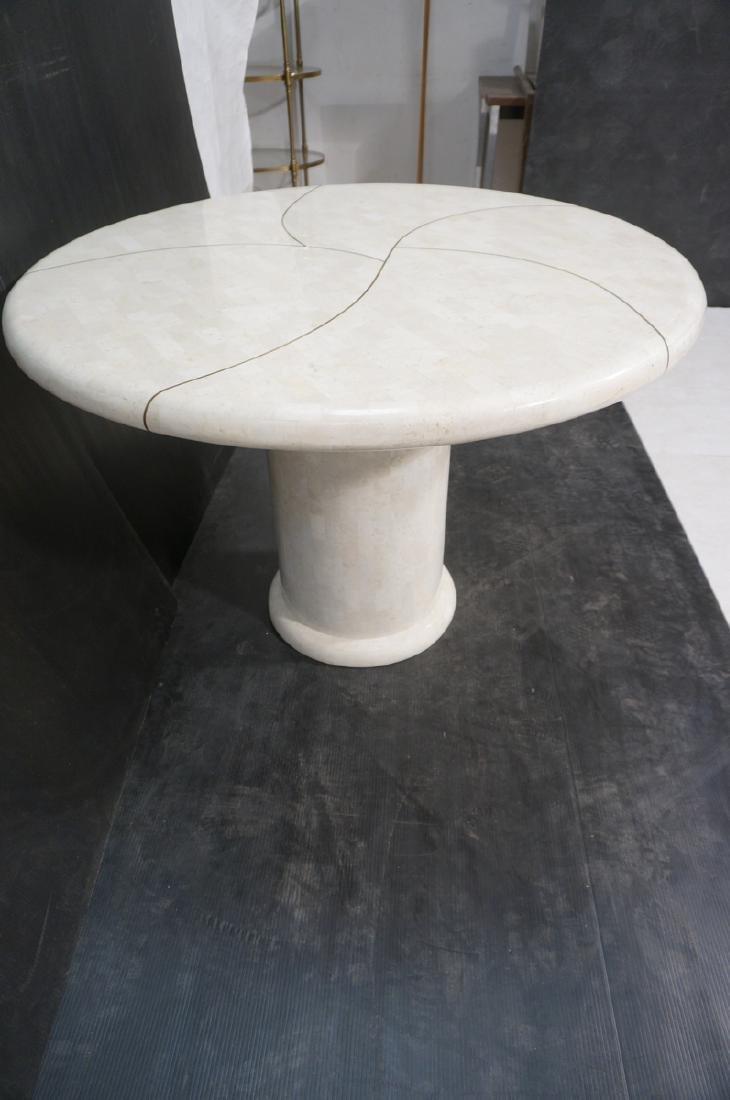 KARL SPRINGER Tessellated Marble Round Dining Tab - 5