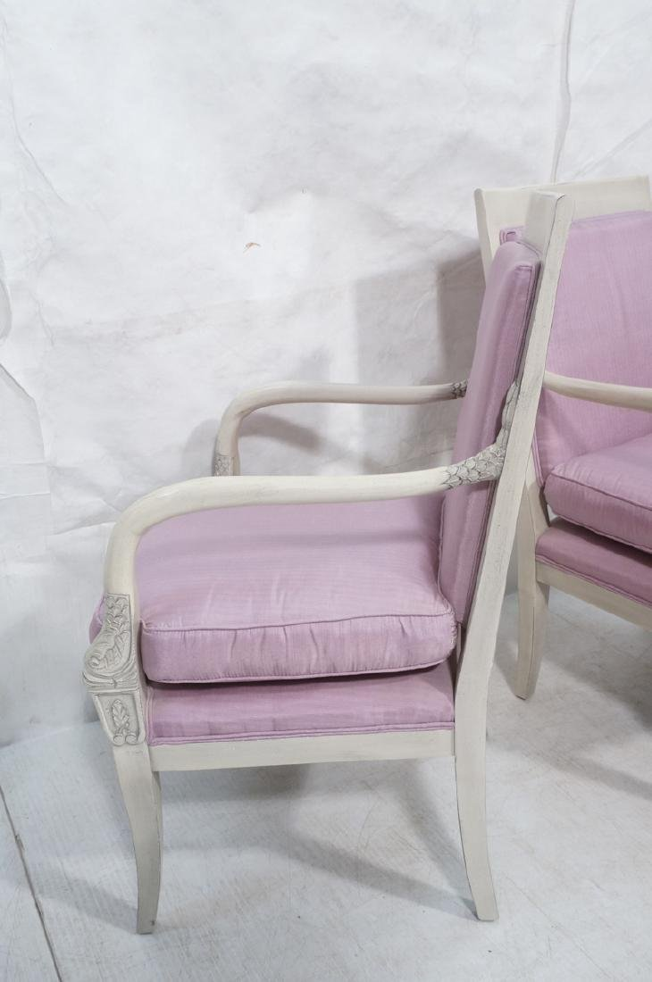 French Style Carved Dolphin Bergere Arm Chairs. S - 5