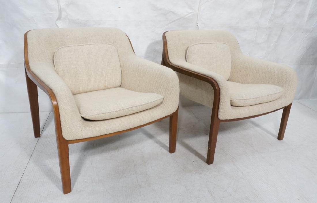 Pr Knoll Modernist Arm Lounge Chairs. Laminated w