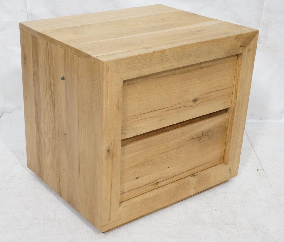 Heavy Pine Wood Cabinet Side Table.