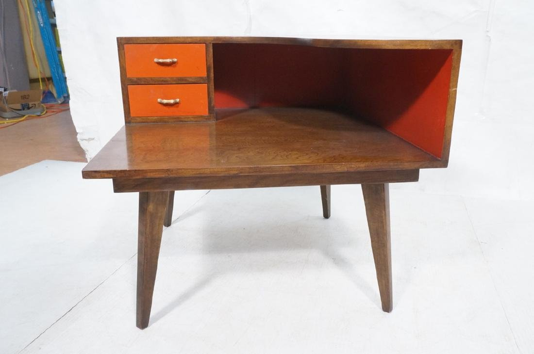 Mid Century Modern Square Step Table. Curved shap - 2