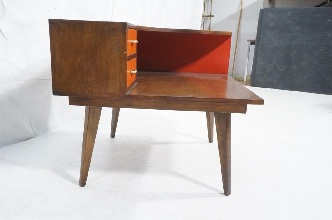 Mid Century Modern Square Step Table. Curved shap - 3