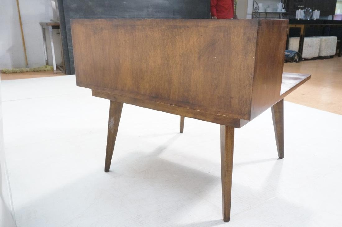 Mid Century Modern Square Step Table. Curved shap - 4