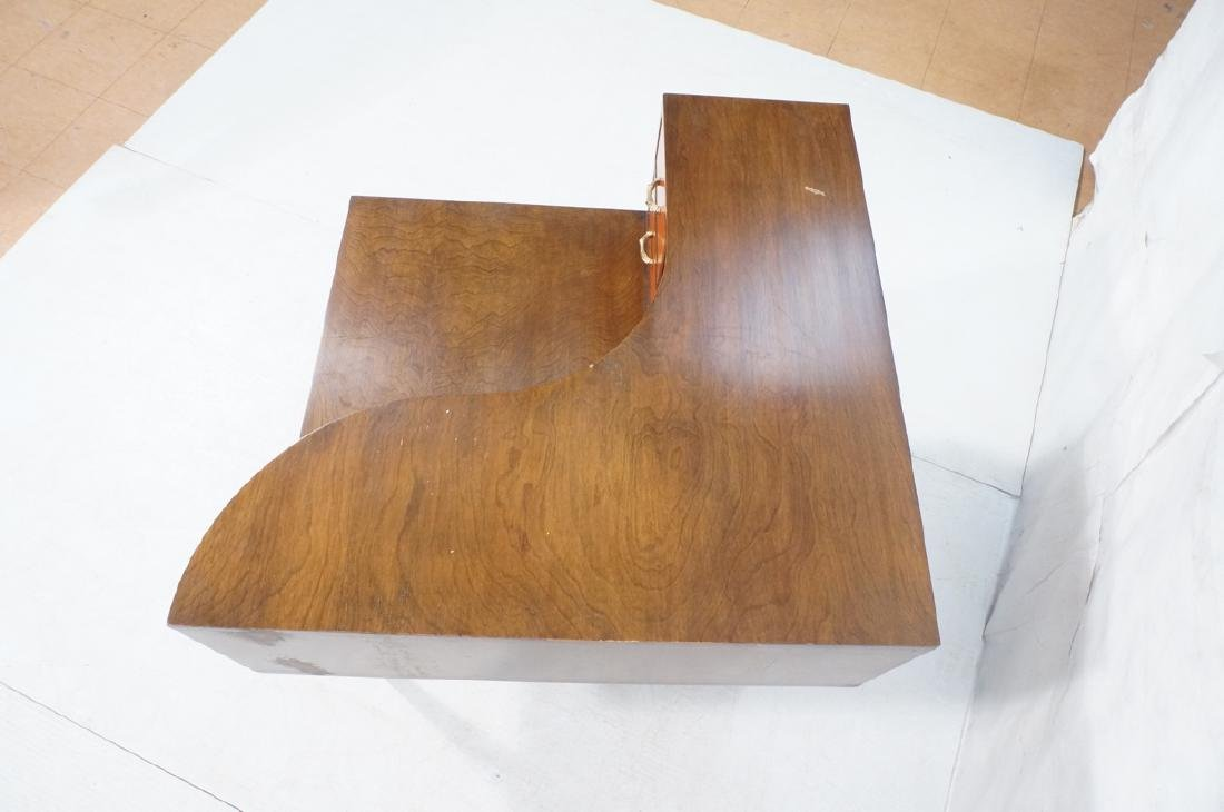 Mid Century Modern Square Step Table. Curved shap - 6