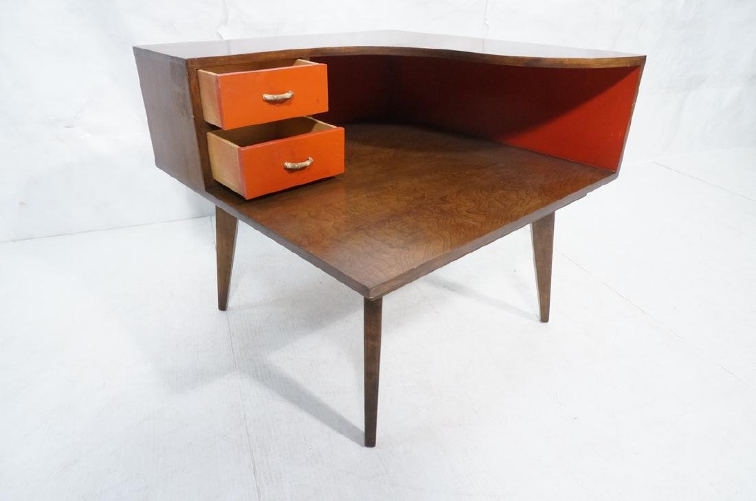 Mid Century Modern Square Step Table. Curved shap - 7